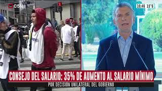 Por Decisión Unilateral Del Gobierno, El Salario Mínimo Vital Y Móvil Se Incrementará En Un 35%