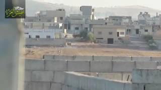 شاهد مقتل مجموعة من الميليشيات الإيرانية بريف حماة بصاروخ تاو