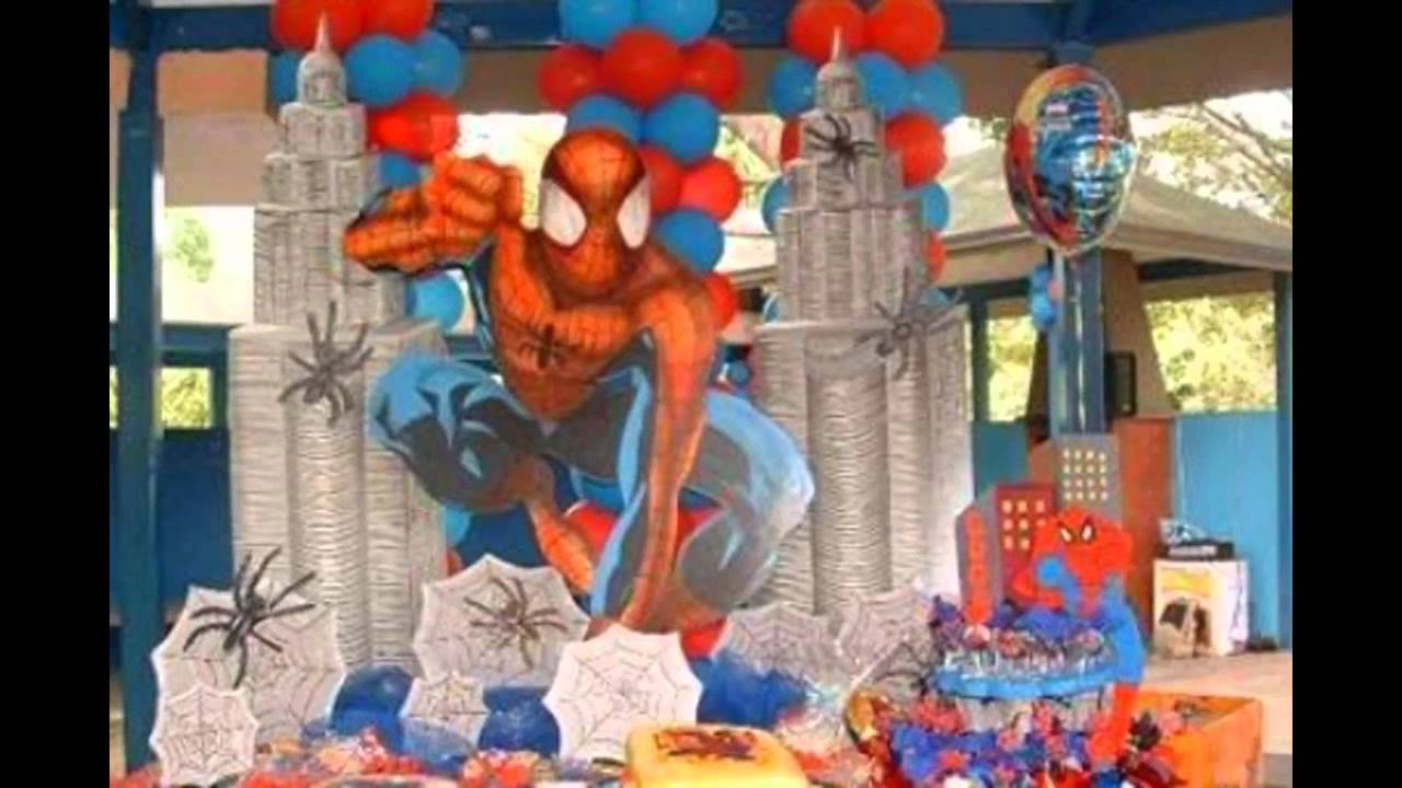 & Creative Spiderman birthday party decorations - YouTube