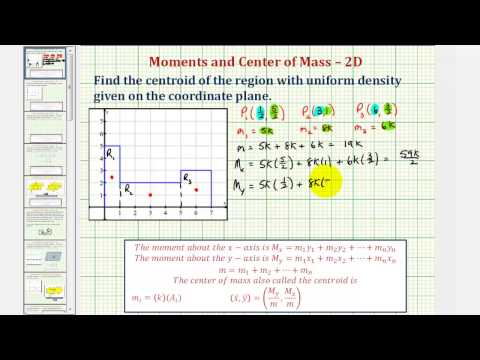 Ex: Find the Centroid of a Region Consisting of Three Rectangles