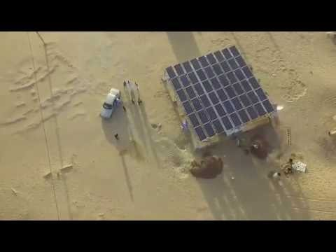 Drone Shot of our Rural Power Unit in Nimjat, Mauritania