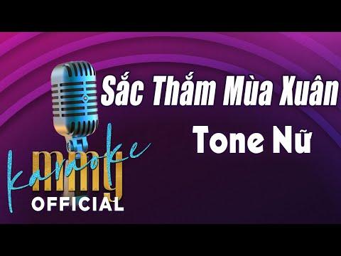 Sắc Thắm Mùa Xuân (Karaoke Tone Nữ) | Nhạc Xuân Karaoke