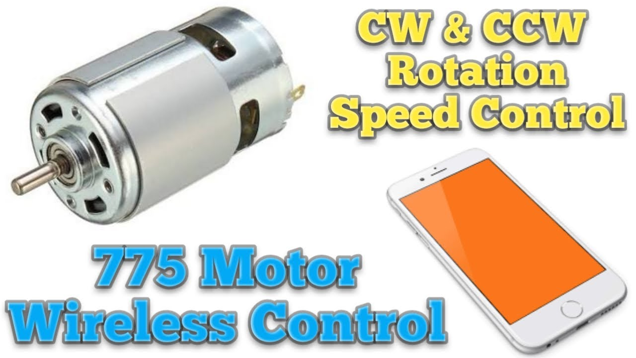 RS 775 Motor Wireless Control By Mobile , CW & CCW rotation, Speed Control, Blynk & Arduino Projects