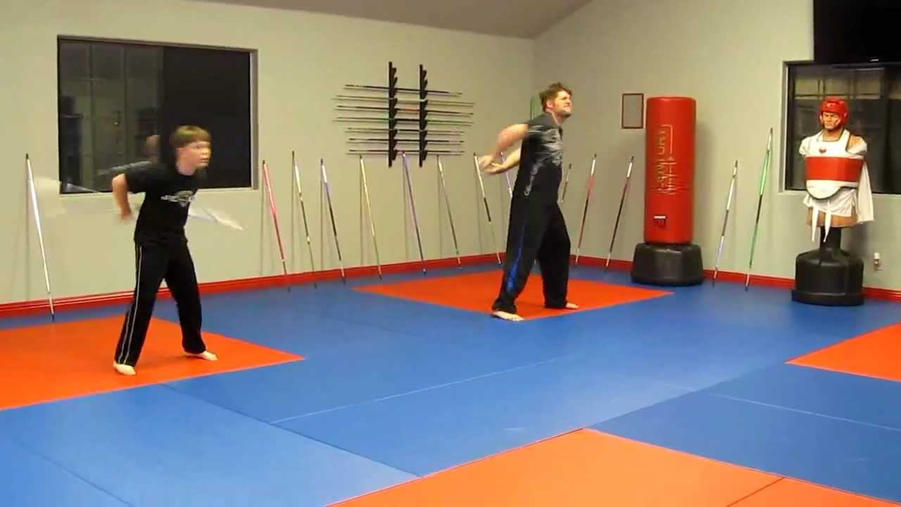 Extreme Bo staff tricks form demonstration Nathan and Noah Fort