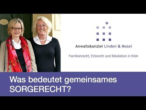 Was bedeutet gemeinsames Sorgerecht? RA Katharina Mosel