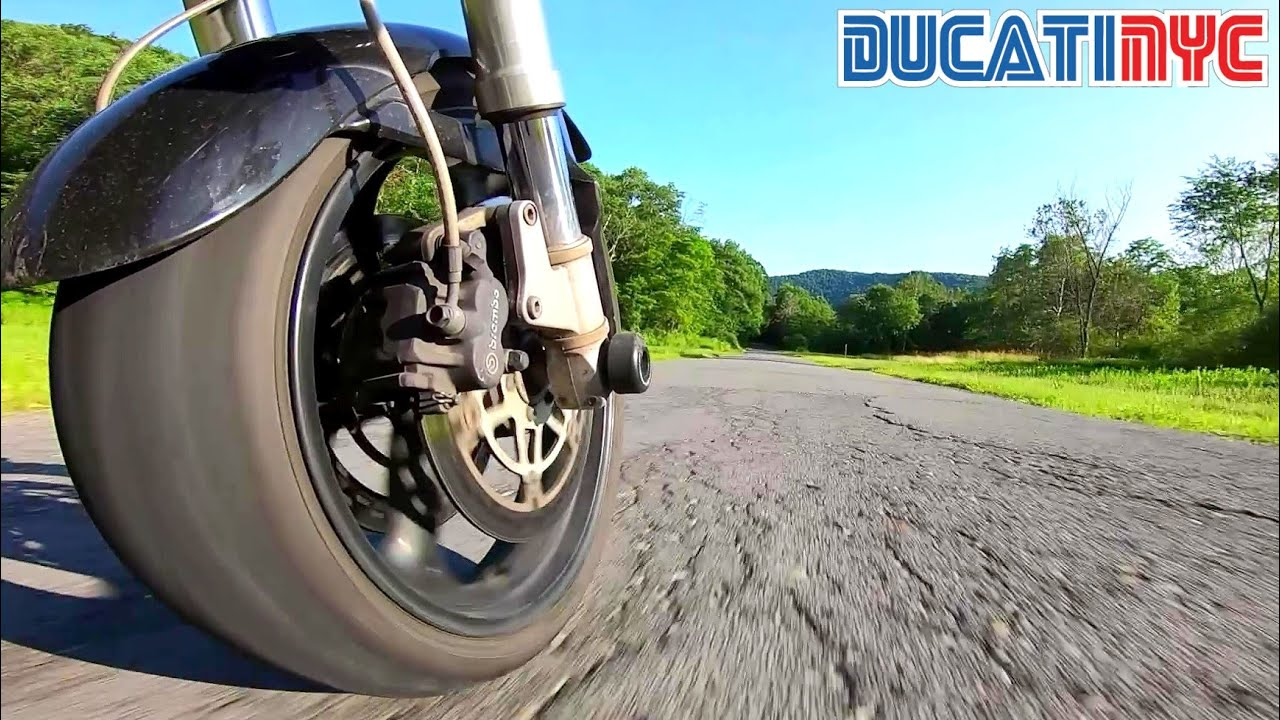 Moto Angles: Low Front Wheel  - GoPro + Manfrotto Magic Arm - Ducati Ride v1289