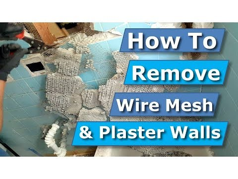 how-to-remove-wire-lath/wire-mesh-plaster-tile-walls-bathroom-demolition