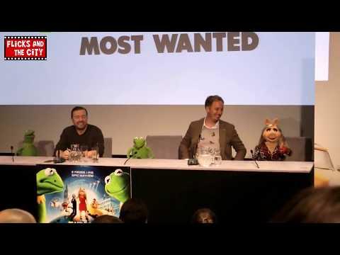 Muppets Most Wanted Interviews - Ricky Gervais, Kermit, Miss Piggy, Constanstine