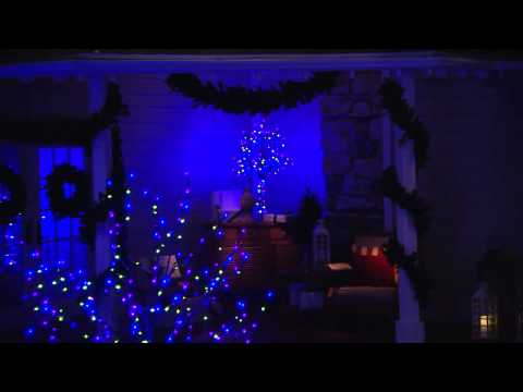 Santa's Best 7' All-Season Outdoor/Indoor Prelit Tree w/ RGB Technology with Antonella Nester
