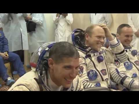 ISS Expedition 37/38 Soyuz TMA-10M Pre-Launch, Launch Video and Post-Launch Interviews