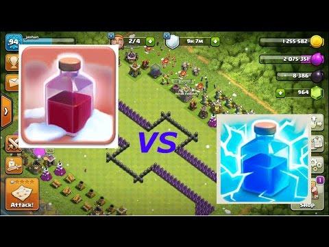 Clash of Clans | Santa spell vs Lightning spell | December update 2016