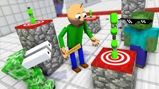 Monster School : BALDI'S BASICS BOTTLE FLIP Challenge - Minecraft Animation