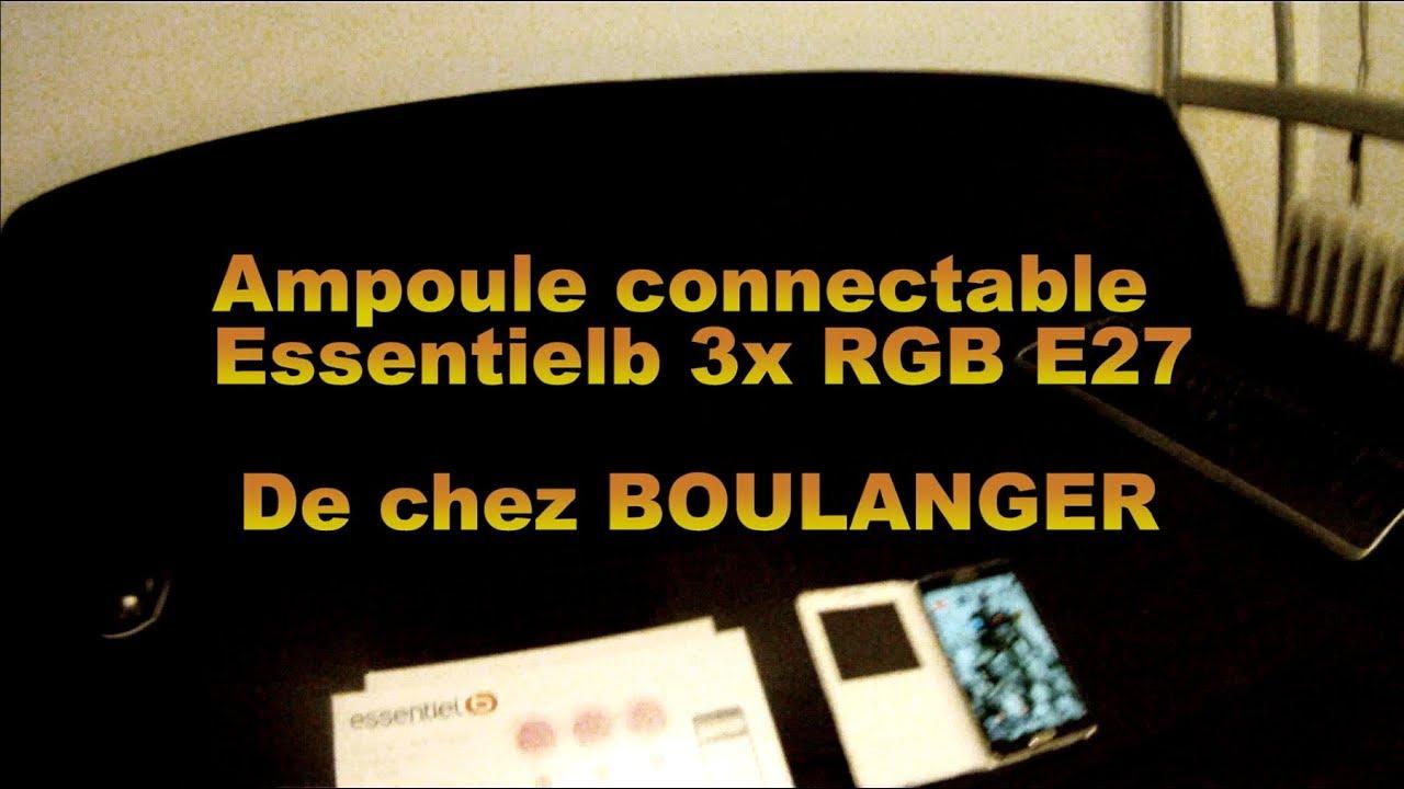 E27 Chez Essentielb Boulanger Ampoule De 3x Connectable Rgb xBCedo