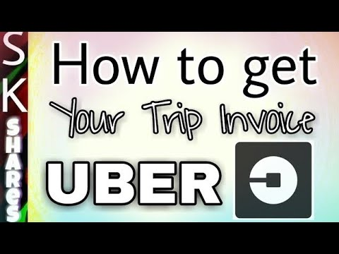 How to get your Uber Trip receipt or invoice