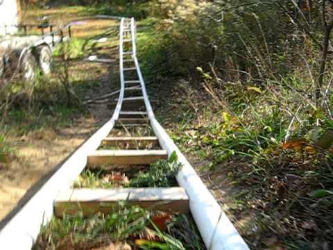 PVC Roller Coaster Final Update - YouTube