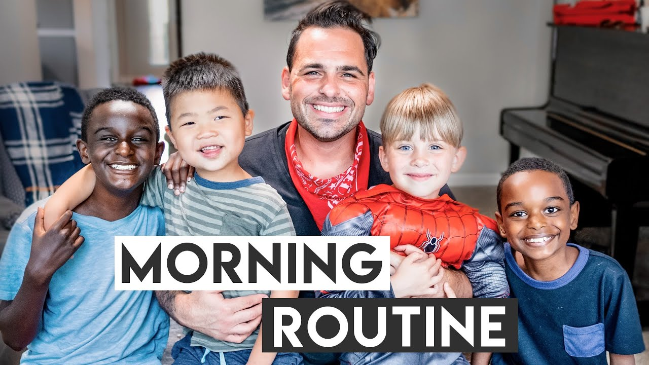 My NEW MORNING ROUTINE as a DAD of 7!