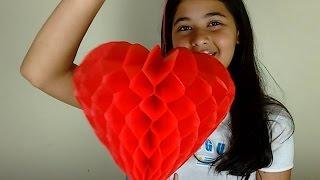Como Fazer um Coração de Papel de Seda – Favo de Mel