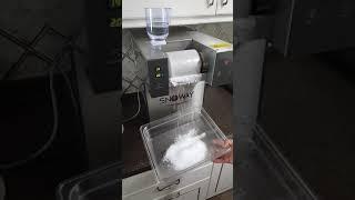 최고의 눈꽃빙수기계 스노웨이! SNOWAY 물로 눈꽃만…