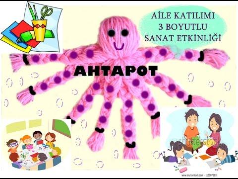 Okulöncesi Aile Katılımı Etkinliği Ipten Ahtapot Yapımı Preschool