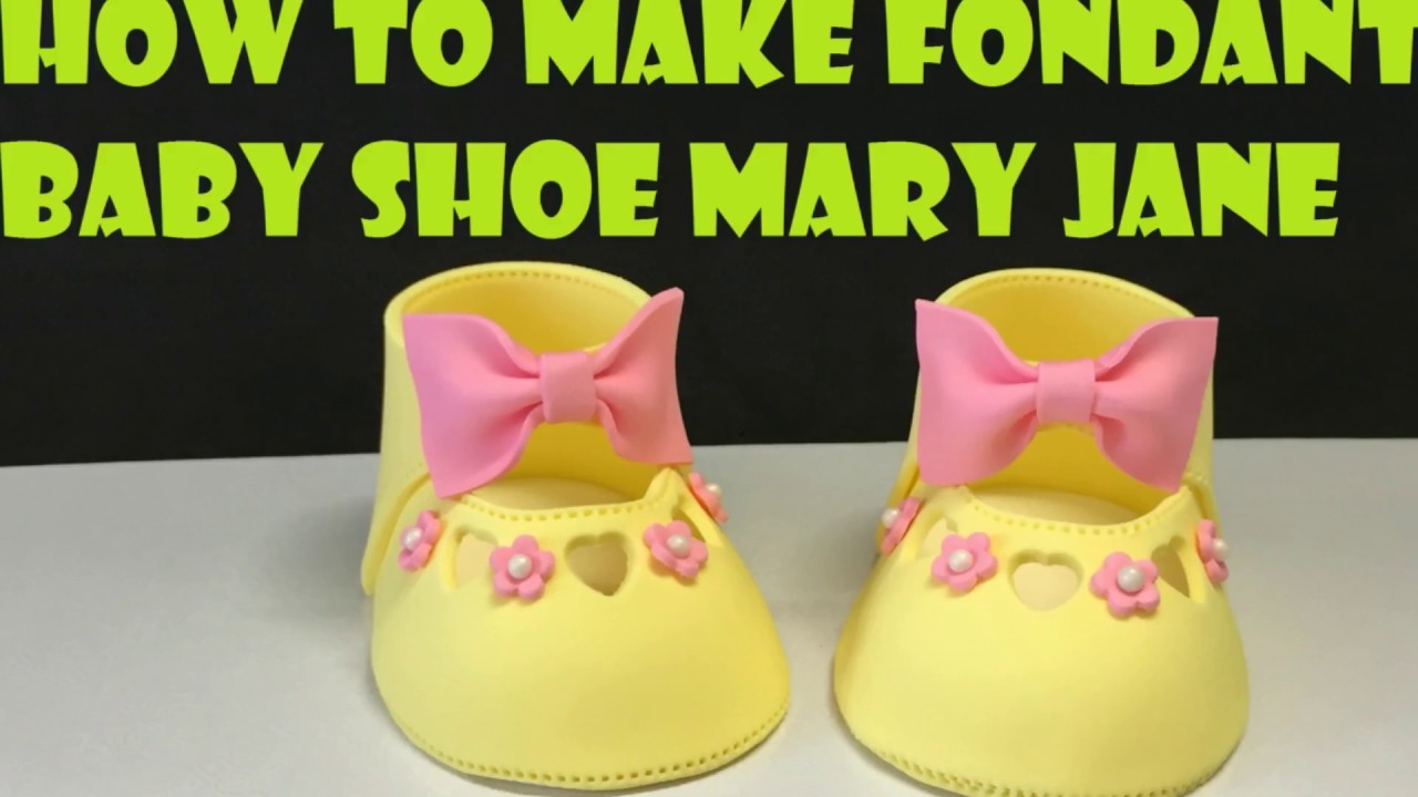 how to make fondant baby shoe mary jane youtube. Black Bedroom Furniture Sets. Home Design Ideas