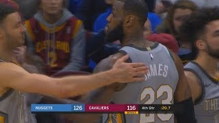 LeBron James Upset with Cavs Team After Losing to Nuggets, Kicks the Ball! Cavaliers vs Nuggets