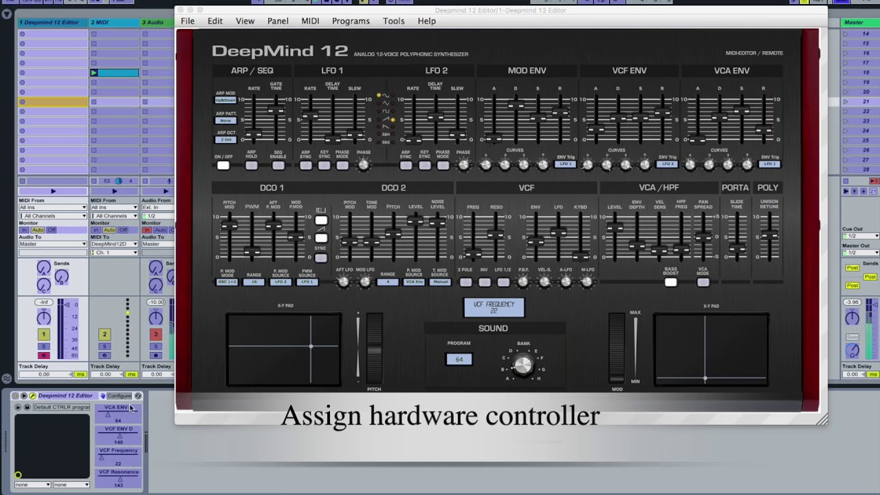 DeepMind 12 Editor and Controller