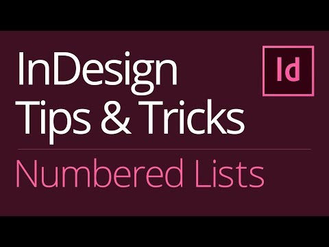 InDesign Numbered Lists | Right Align (Align on Period or Decimal Point)