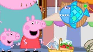 Peppa Pig Full Episodes - The Market - Cartoons for Children