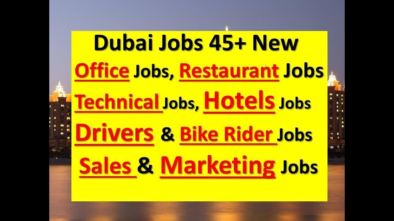 Free Jobs In Dubai 45 New Jobs Salary 2000 8000aed Apply Now
