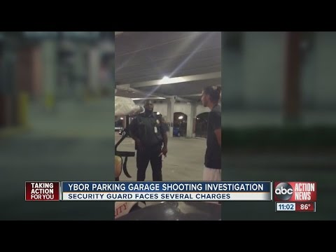 Tampa security guard arrested after confrontation in parking garage, fires at men
