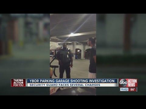 Tampa security guard arrested after confrontation in parking garage, fires at men