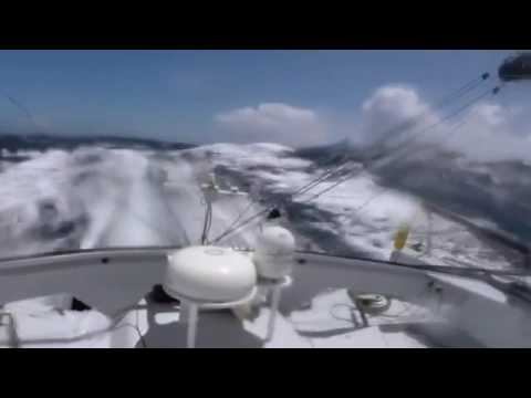 Thomas Ruyant​ gybe before a crash in heavy wind during Vendée Globe​ 2016 2017