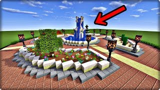 【マインクラフト】噴水広場の作り方【噴水の作り方】