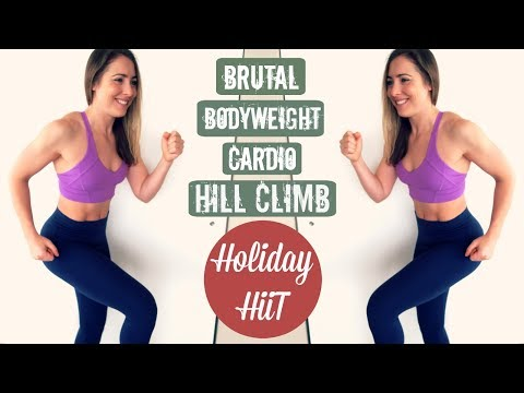 VACATION WORKOUT // Brutal Bodyweight Cardio HILL CLIMB!!