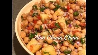 Aloo chana chaat | Chana Chaat | How to prepare chickpea salad Vegan Recipe | Aloo Channa Salad