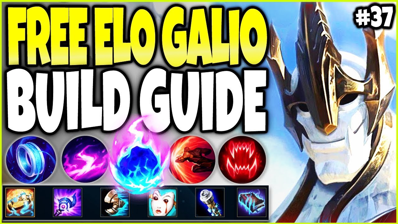 NEW FREE ELO GALIO BUILD GUIDE 🔥 LoL Meta Galio Season 10 Build Guide #37 - Top Galio s10 Gameplay