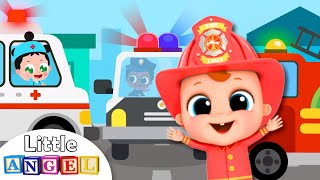 What Do You Want to Be (Jobs Song)| Firefighter, Policeman, Doctor | Little Angel