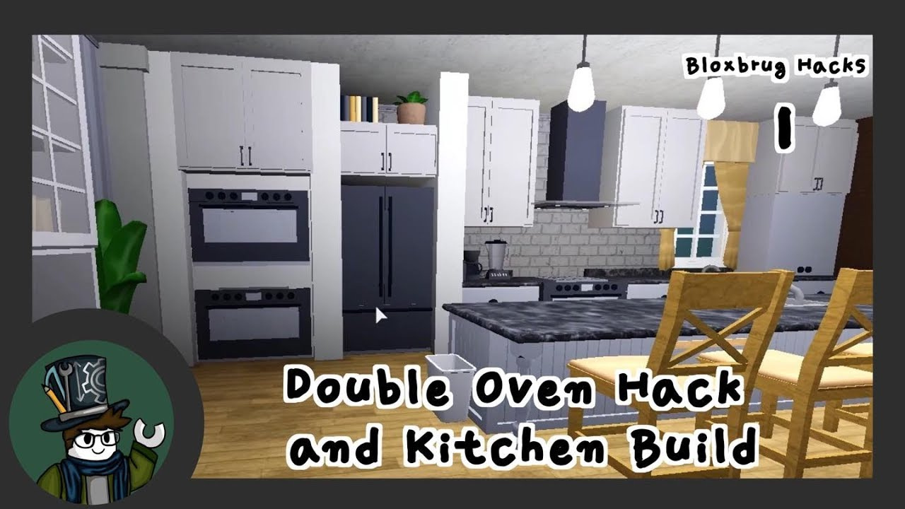 Bloxburg - Building Hacks - Double oven and Kitchen Build (Roblox)
