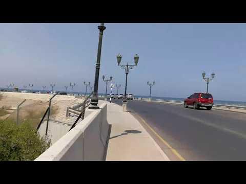 Driving in Al Qurum Mangroves Muscat Oman قيادة السيارة في القرم مسقط عمان 22.09.2017