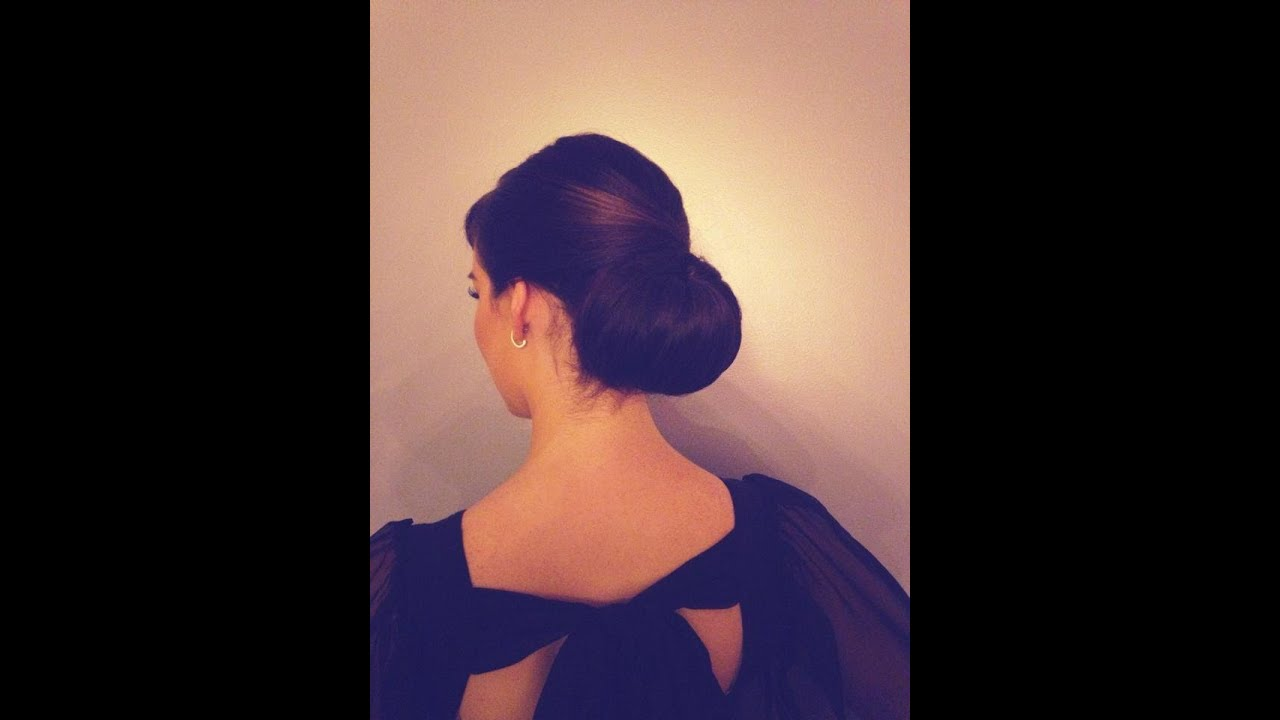 How To Do A Classic Chignon Hairstyle YouTube