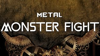 Heavy Metal Monster Fight by Legna Zeg Royalty Free
