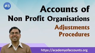 Accounts of Non Profit Organisations (NPO) - Adjustments with Procedure