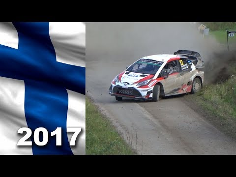 WRC rally Finland 2017. Lappi at the limit.