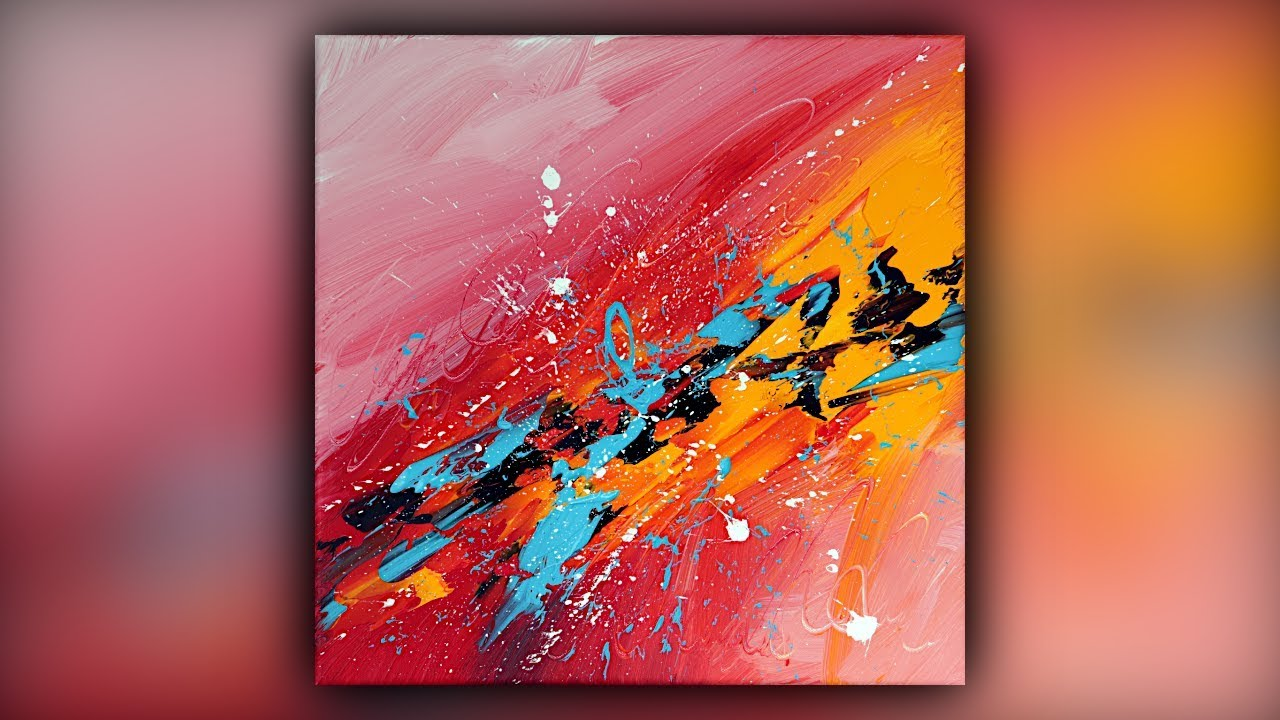 Abstract Acrylic Painting Easy For Beginners Palette Knife Demo 086 Youtube