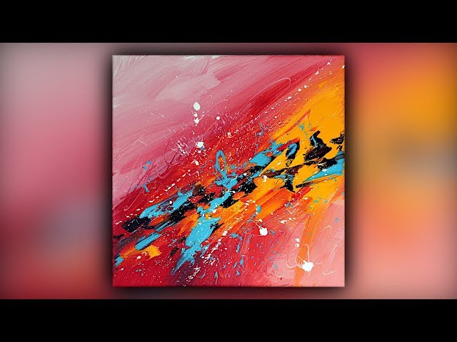 Abstract Acrylic Painting / Easy for Beginners / Palette Knife / Demo #086
