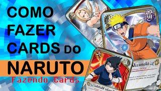 Como Fazer Cards do Naruto