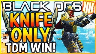"BLACK OPS 4 - ""KNIFE ONLY TEAM DEATHMATCH WIN!"" - Team Challenge #14 (BO4 Knife Only TDM Win CLUTCH)"