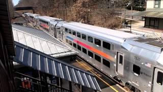 NJ Transit train at Fanwood, New Jersey