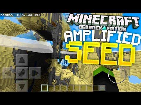 Minecraft - AMAZING AMPLIFIED WORLD SEED!!! (Minecraft