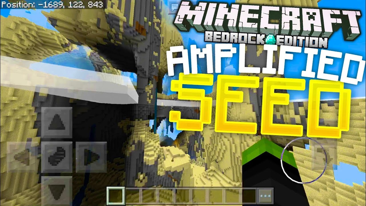 Minecraft - AMAZING AMPLIFIED WORLD SEED!!! (Minecraft Bedrock Edition)